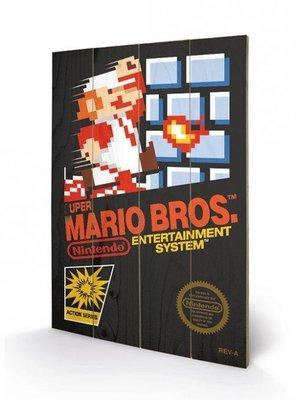 Super Mario Bros NES Box Art [Wooden Art]