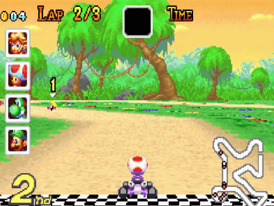 Gameboy Screenshot Mario Kart Super Circuit