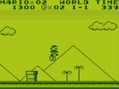 Gameboy Screenshot Super Mario Land