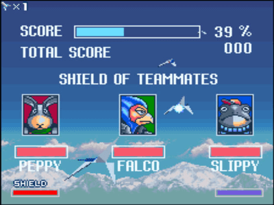 Super Nintendo SNES Screenshot Starwing