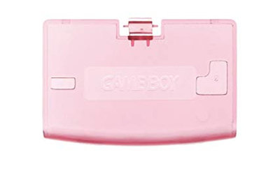 Game Boy Advance Batteriedeckel (Clear Pink)