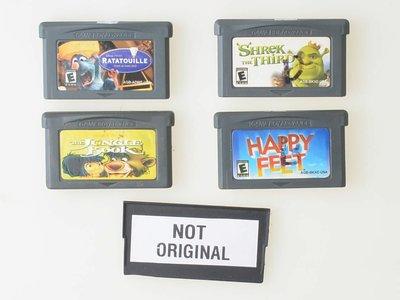 Happy Feet   Ratatouille   Shrek the Third   Jungle Book - Gameboy Advance - Outlet
