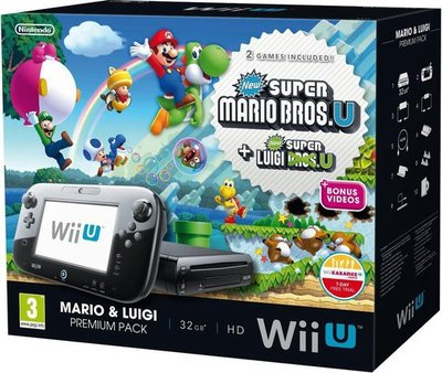 Wii U Console Complete - New Super Mario Bros U Edition