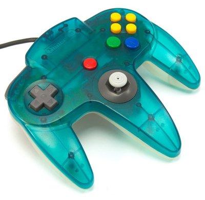 Originele Nintendo 64 Controller Aqua Blue