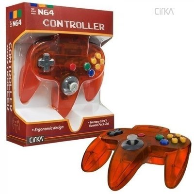 Neuer Nintendo 64 [N64] Controller Fire Orange