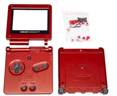 Gameboy Advance SP Shell Red