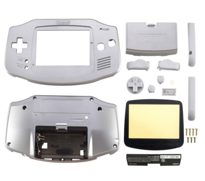 Game Boy Advance Shell Platinum (Silver)