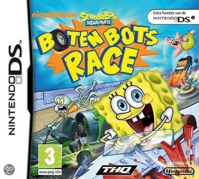 SpongeBob Squarepants Boten Bots Race for NDS