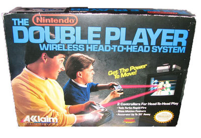 Double Player Akklaim Wireless Controllers for NES