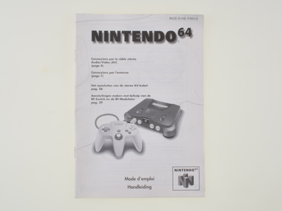Nintendo 64 Console Manual