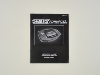 Gameboy Advance Manual