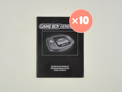 10x Gameboy Advance Console Manual
