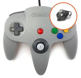 Originele Grijze Nintendo 64 Controller met Gamecube Stijl Pookje