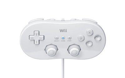 Nintendo Wii Classic Controller White (front) - kopie