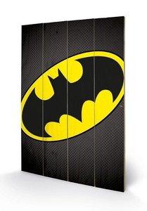 Batman Logo Wooden Art