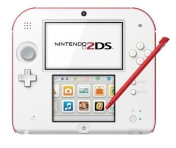 Nintendo 2DS White-Red